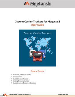 Magento 2 Custom Carrier Trackers