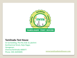 Water Testing Labs in Chennai - TNTH