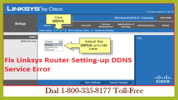 18003358177 Fix Linksys Router Setting-up DDNS Service Error