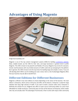 Balance Internet - Advantages of Using Magento - Magento Melbourne