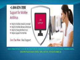 Mcafee Support Number +1-844-874-7898 (Toll-Free)
