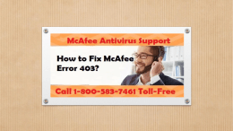Call 1-800-583-7461 Toll-Free | How to Fix McAfee Error 403?