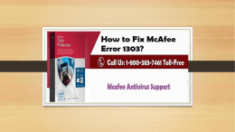 How to Fix McAfee Error 1303? Call 1-800-583-7461 Toll-Free