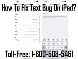 1-800-608-5461 How To Fix Text Bug On iPad?