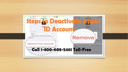How to Deactivate Apple ID Account? Call 1-800-608-5461 Toll-Free