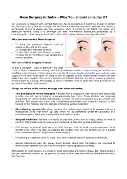 Nose Surgery in India - Why You should consider it