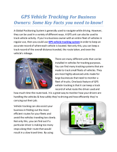 GPS Vehicle Tracking For Business Owners