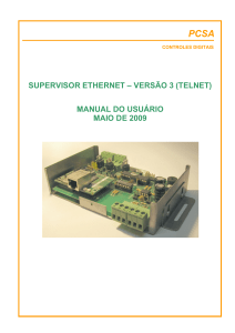 SUPERVISOR ETHERNET - MANUAL DO USUÁRIO