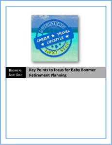 Key points to focus for Baby Boomer Retirement Planning