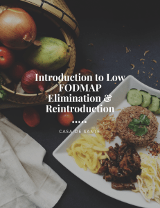 Introduction to Low FODMAP Elimination and Reintroduction by CasadeSante.com
