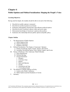 Ch06 Public Opinion and Political Socialization- us government