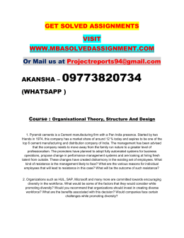 Organisational Theory, Structure And Design Nmims Assignment Need