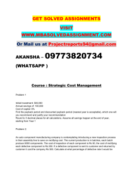 Strategic Cost Management Nmims Solved Assignment
