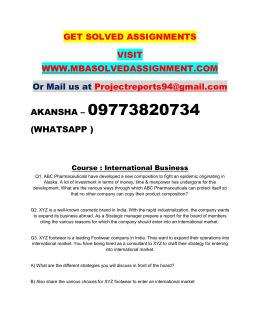 International Business Nmims PGDFM