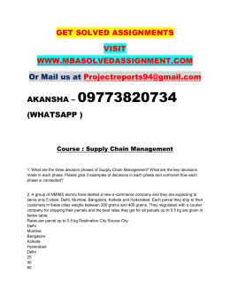 Supply Chain Management PGDFM