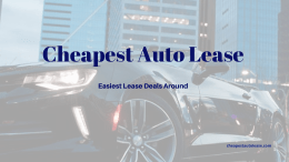Cheapest Auto Lease.