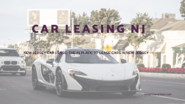 Car Leasing NJ