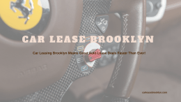 Car Lease Brooklyn