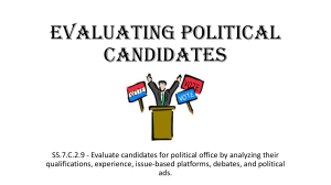 Evaluating Political Candidates