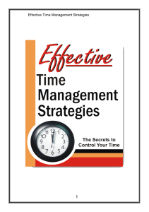 Effect Time Management