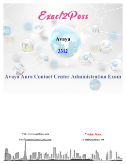 Exact2pass Avaya 3312 Exam Questions Answers