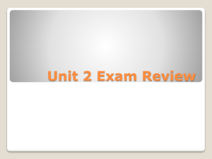 Unit 2 Exam Review