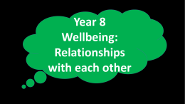 Relationships Year 8 Wellbeing