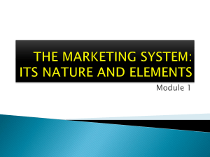 THE MARKETING SYSTEM
