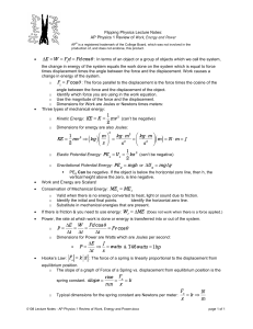 0108 lecture notes - ap physics 1 review of work, energy and power