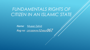 Fundamentals Rights Of Citizen In an Islamic State