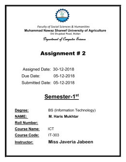 Application of computer assigment 2