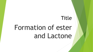 formation of lactones and ester