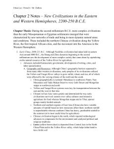 Chapter 2 Notes Outline WHAP World History AP