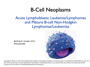 B-cell Neoplasms 2021