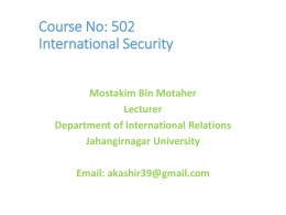 Difinition of Int Security Std