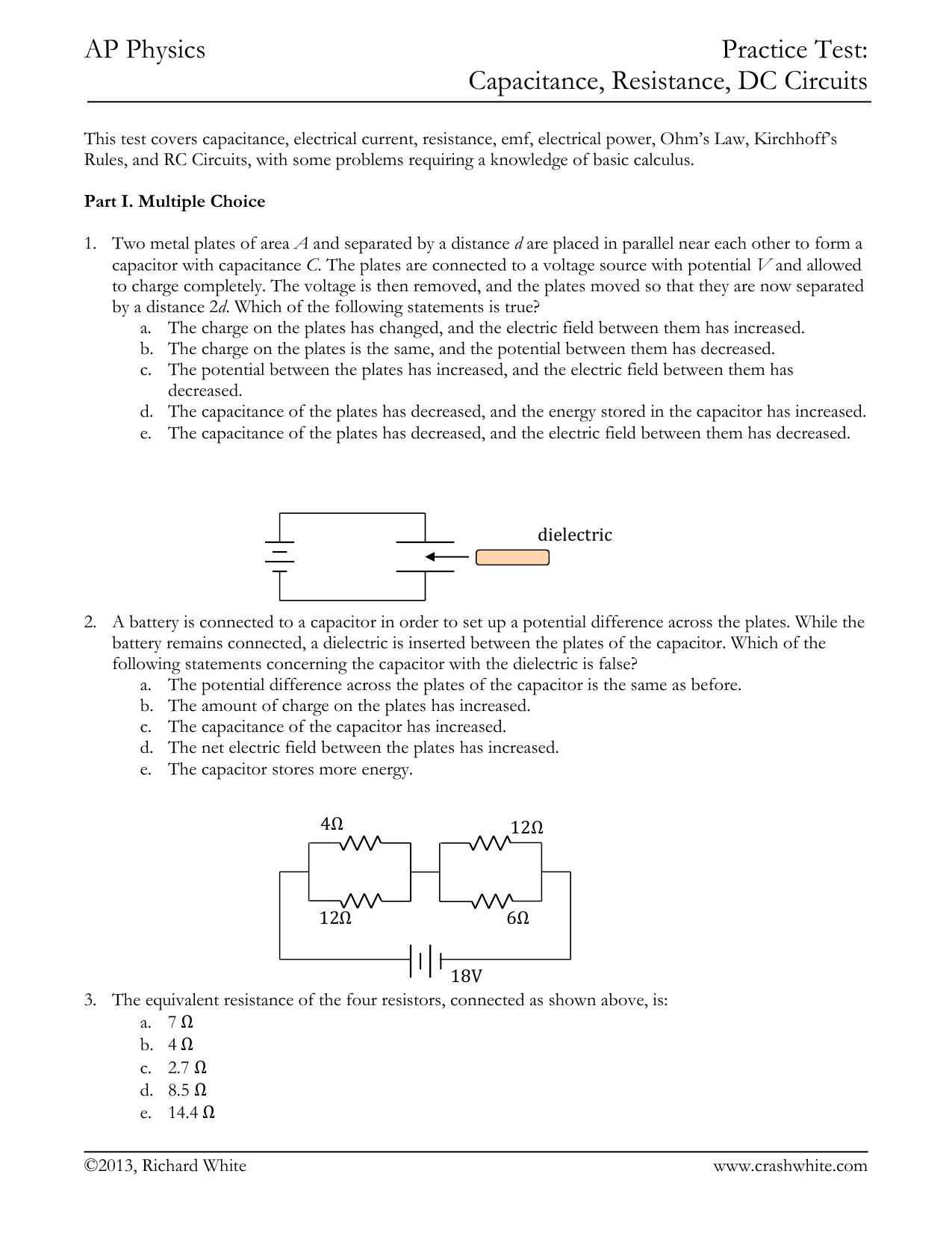 practice test-9-capacitance-resistance-dc circuits