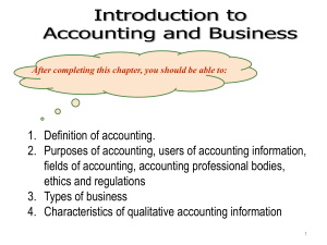Topic 1 A181- Introduction to Accounting (1)