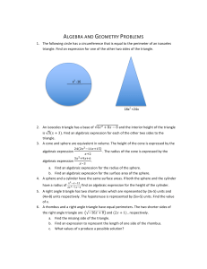 Algebra and Geometry Problems (Factoring/Rational expressions)