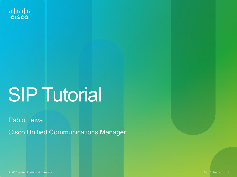 SIP tutorial