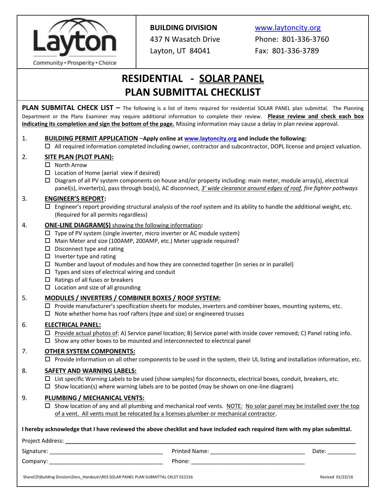 ut 84041 www laytoncity org phone: 801-336-3760 fax: 801-336-3789  residential - solar panel plan submittal checklist plan submital check list  – the