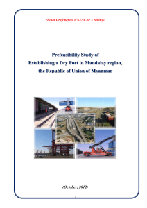 Pre-Feasibility Study Report for the Dry Port in Myanmar(2012)
