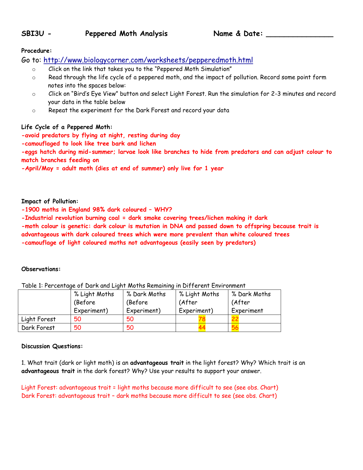 3-Peppered moth Simulation Analysis ANSWERS