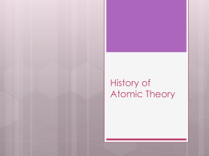 History of Atomic Theory PPT
