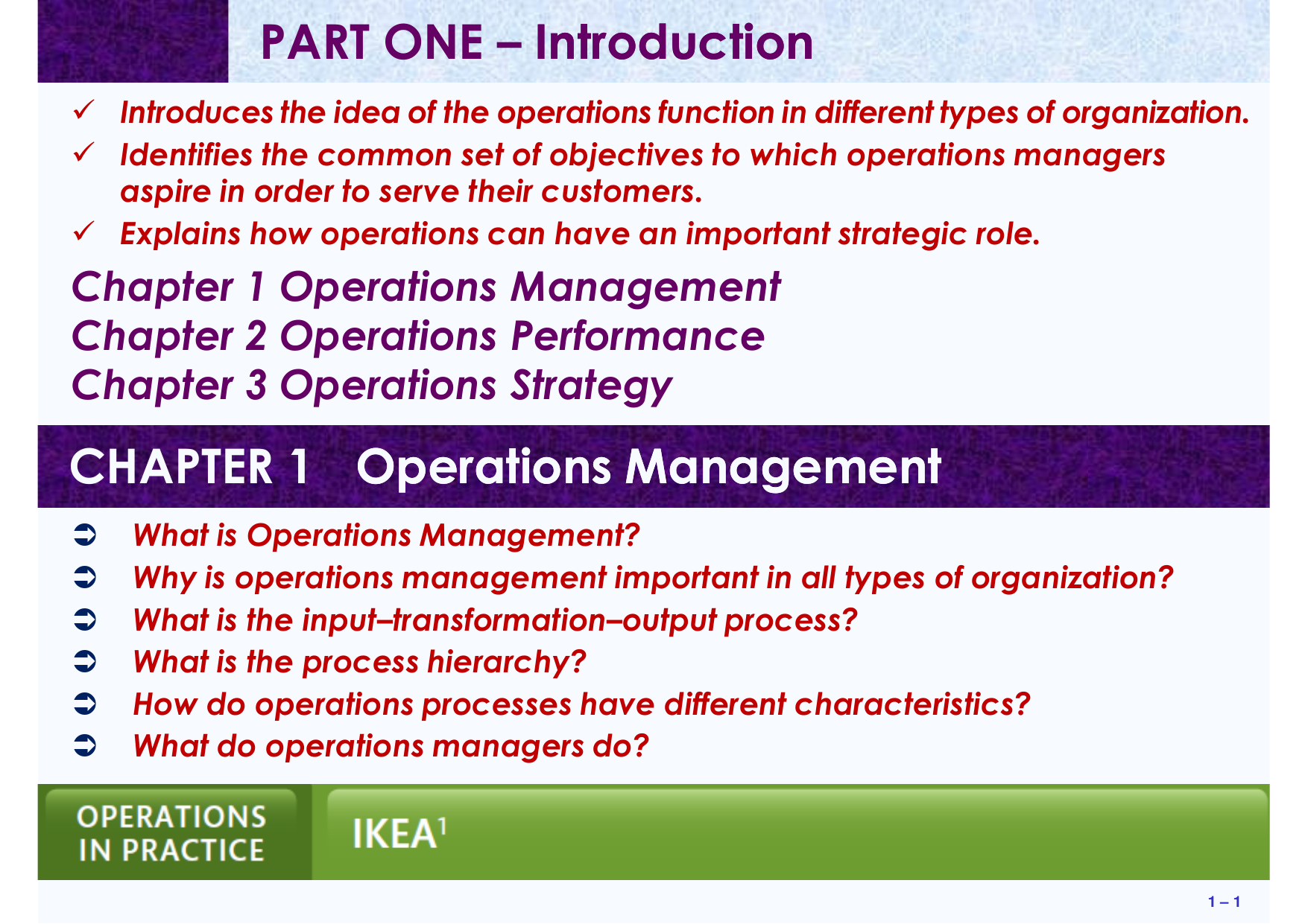 What Is Operation Management