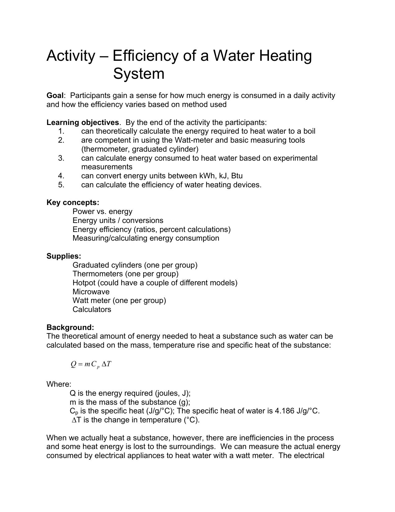 efficiency heating activity2 student worksheet