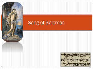 Theo 1 Song of Solomon Summary Presentation