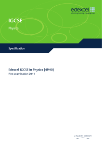 IGCSE2009 Physics (4PH0) Specification