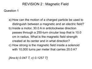 Practice problems: Magnetic field