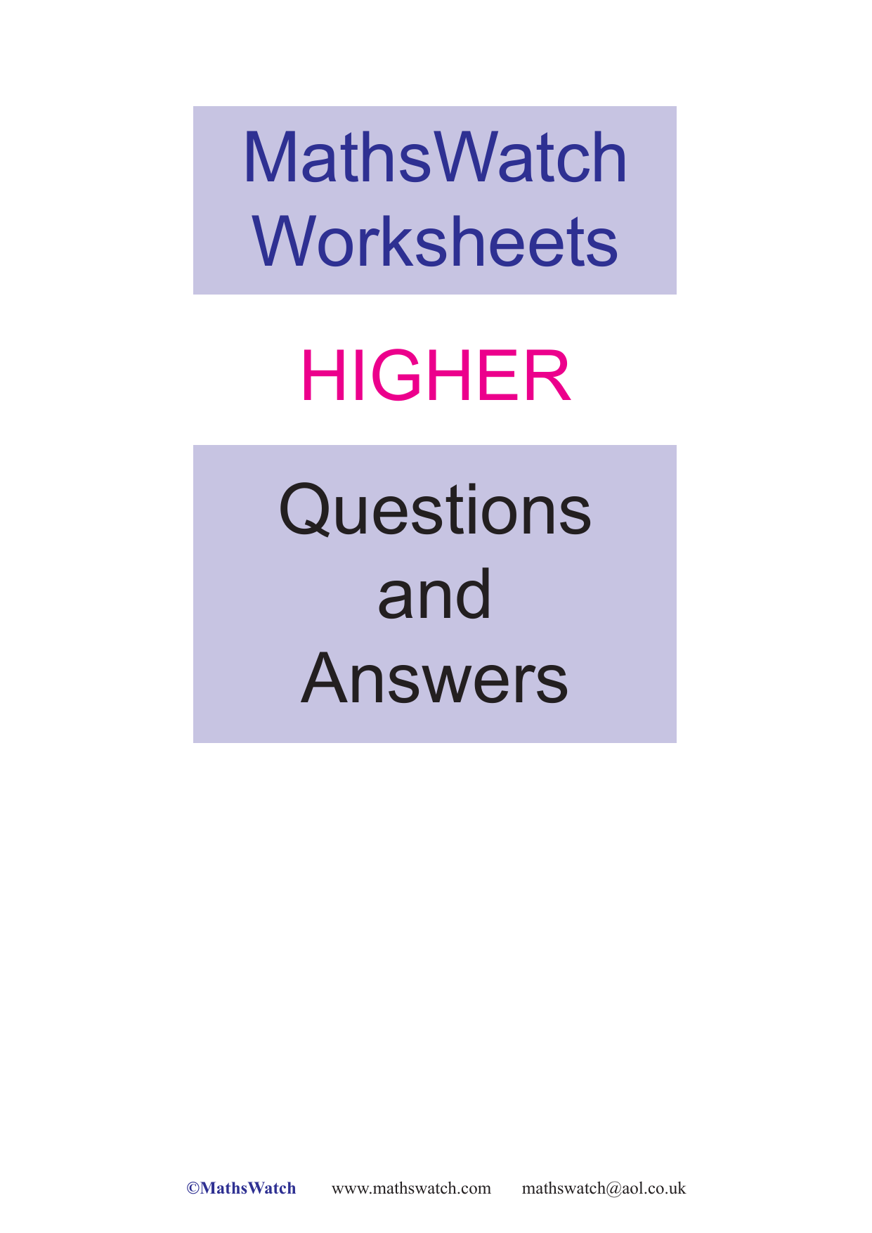 mathswatch-higher-worksheets-aw