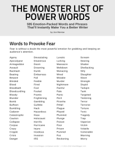 POWER WORDS